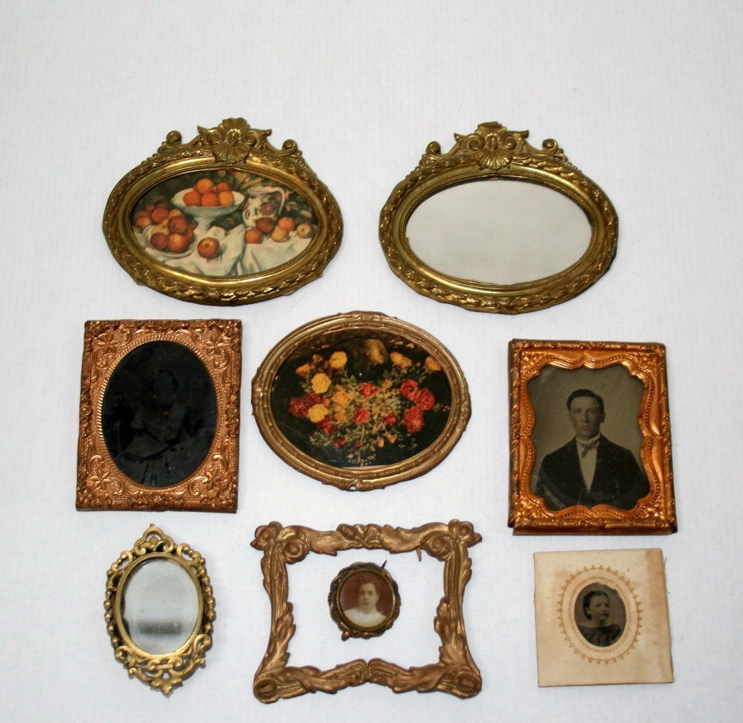 Antique Framed Dollhouse Miniature  Pictures
