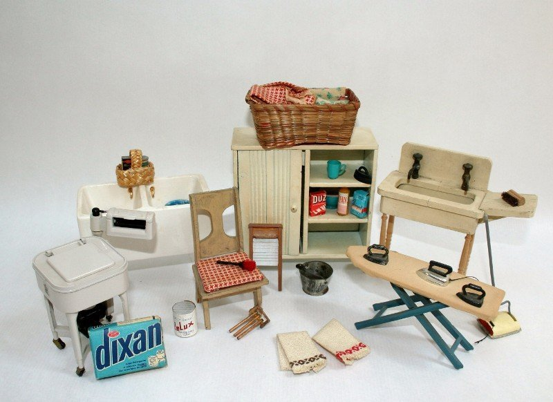 Dollhouse Miniature Vintage Laundry Day