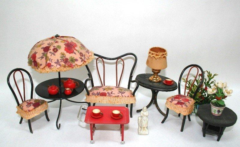 Dollhouse Miniature Vintage Patio Furniture