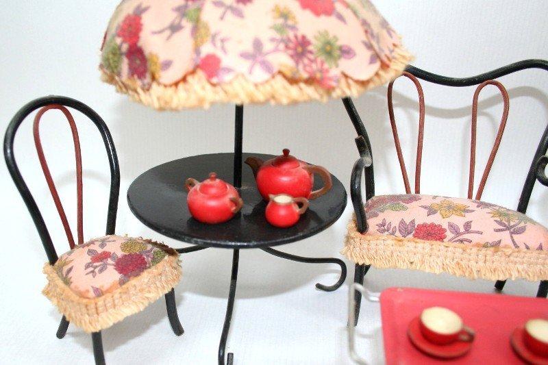 Dollhouse Miniature Vintage Patio Furniture - 2