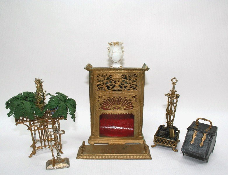 Dollhouse Miniature Antique Fireplace Group