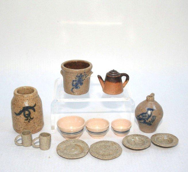 Dollhouse Miniature Artisan Stoneware
