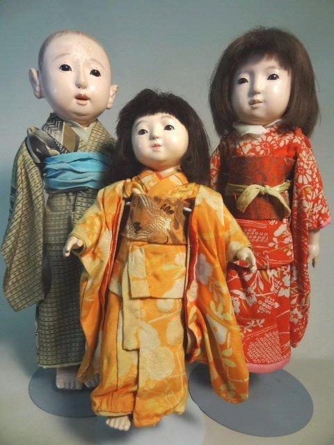 Ichimatsu  Gofun  Dolls Showa Period
