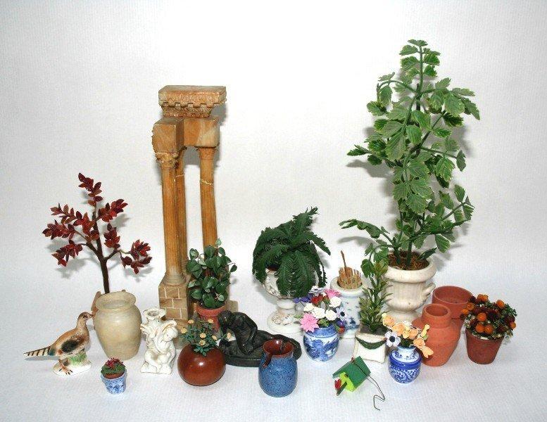 Dollhouse Miniature Exotic Garden