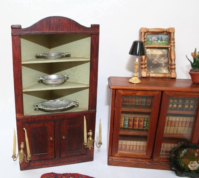 Dollhouse Miniature Chestnut Hill Cupboard - 2