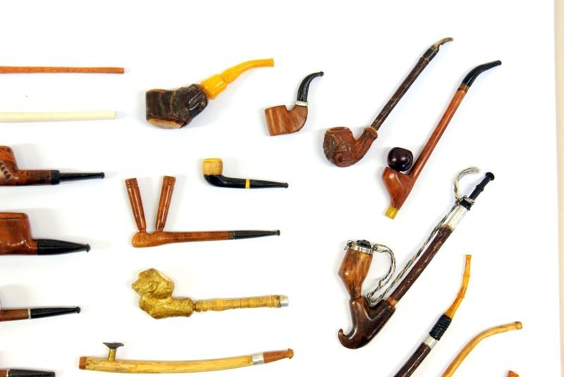 Rare Miniature Meerschaum Exotic Wood Pipes - 4