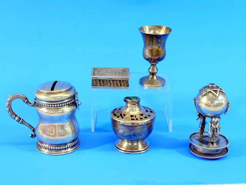 Group of Vintage Judaica Silver
