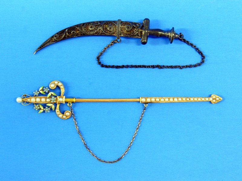 14K Sword and Silver Knife