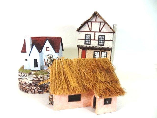 Three Half-Inch Scale Dollhouses