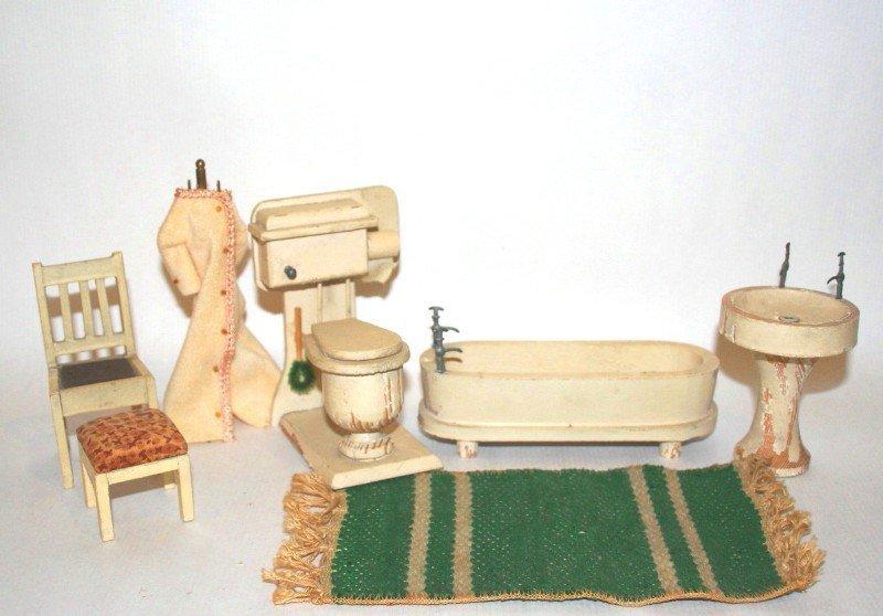 Dollhouse Miniature Vintage German Bathroom