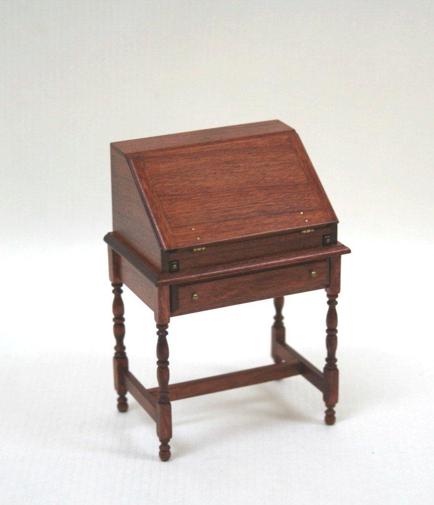 Dollhouse Miniature Roger Gutheil Slant-lid Desk