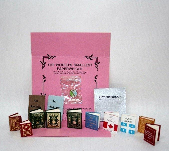 Roger Huet Miniature Books and Paperweight