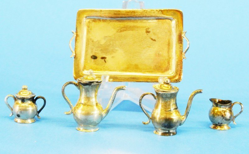 Silver Miniature Table Articles - 2