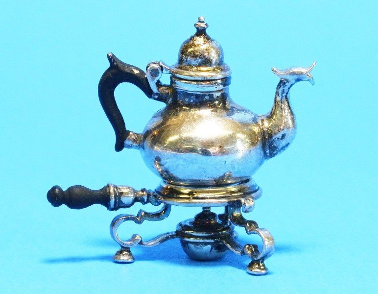 Obadiah Fisher Silver Kettle on Stand