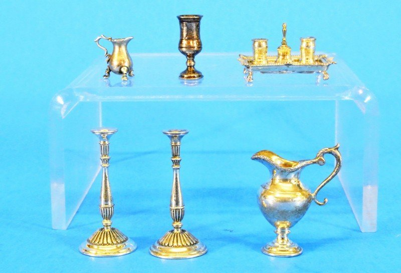 Acquisto Silver Miniature Candle Sticks and Others