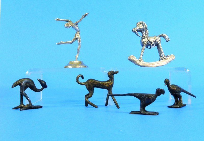Silver and Bronze Miniature Statues