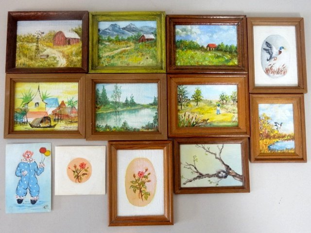Dollhouse Miniature Hofferbert Paintings