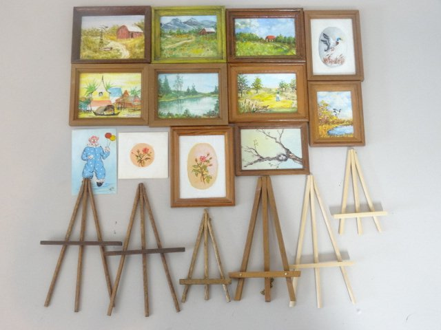 Dollhouse Miniature Hofferbert Paintings - 2