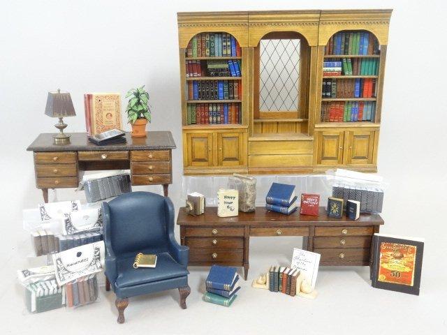 Dollhouse Miniature Library