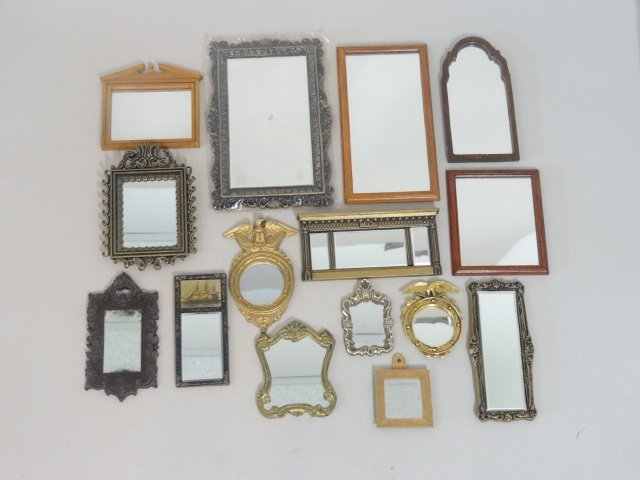 Dollhouse Miniature Mirror Collection