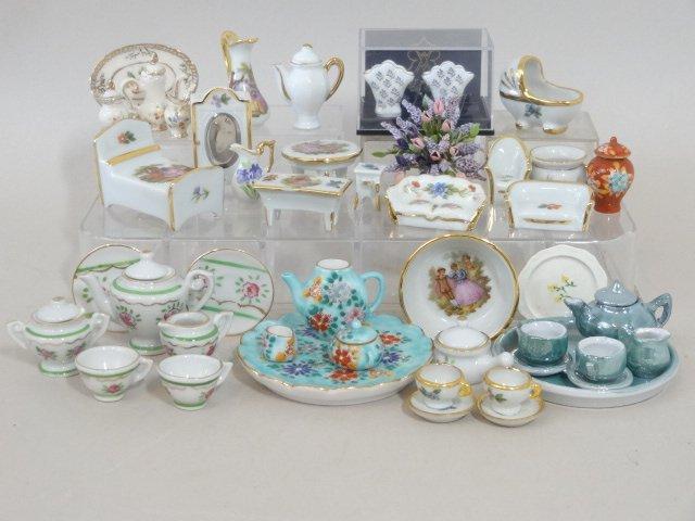 Dollhouse Miniature Dish Sets