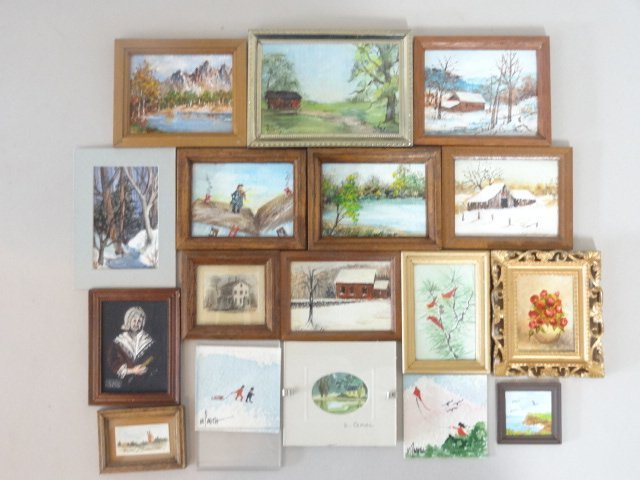 Dollhouse Miniature Oil Paintings