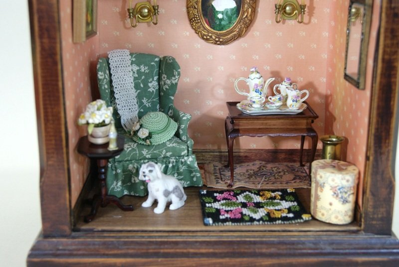 Fancy Clock Box w/Furniture - 2