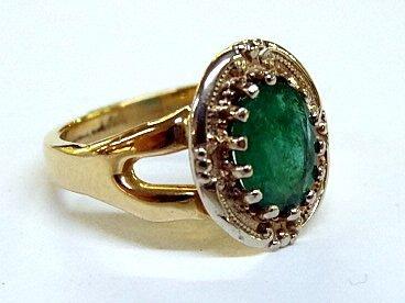 14Kt Emerald Ring