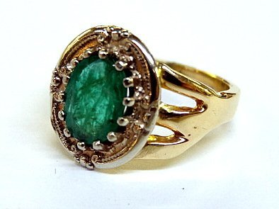 14Kt Emerald Ring - 2