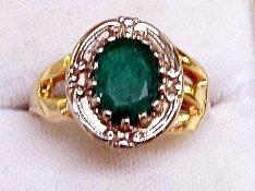 14Kt Emerald Ring - 3