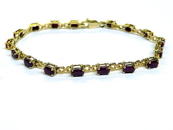 14Kt Ruby Tennis Bracelet