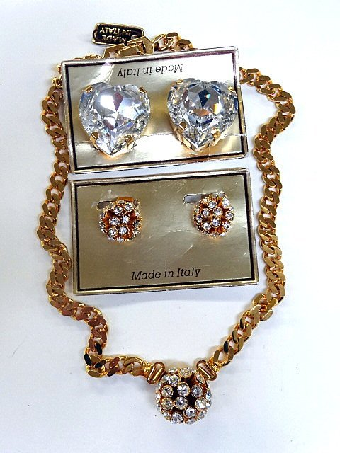 Italian  Rhinestones Jewelry