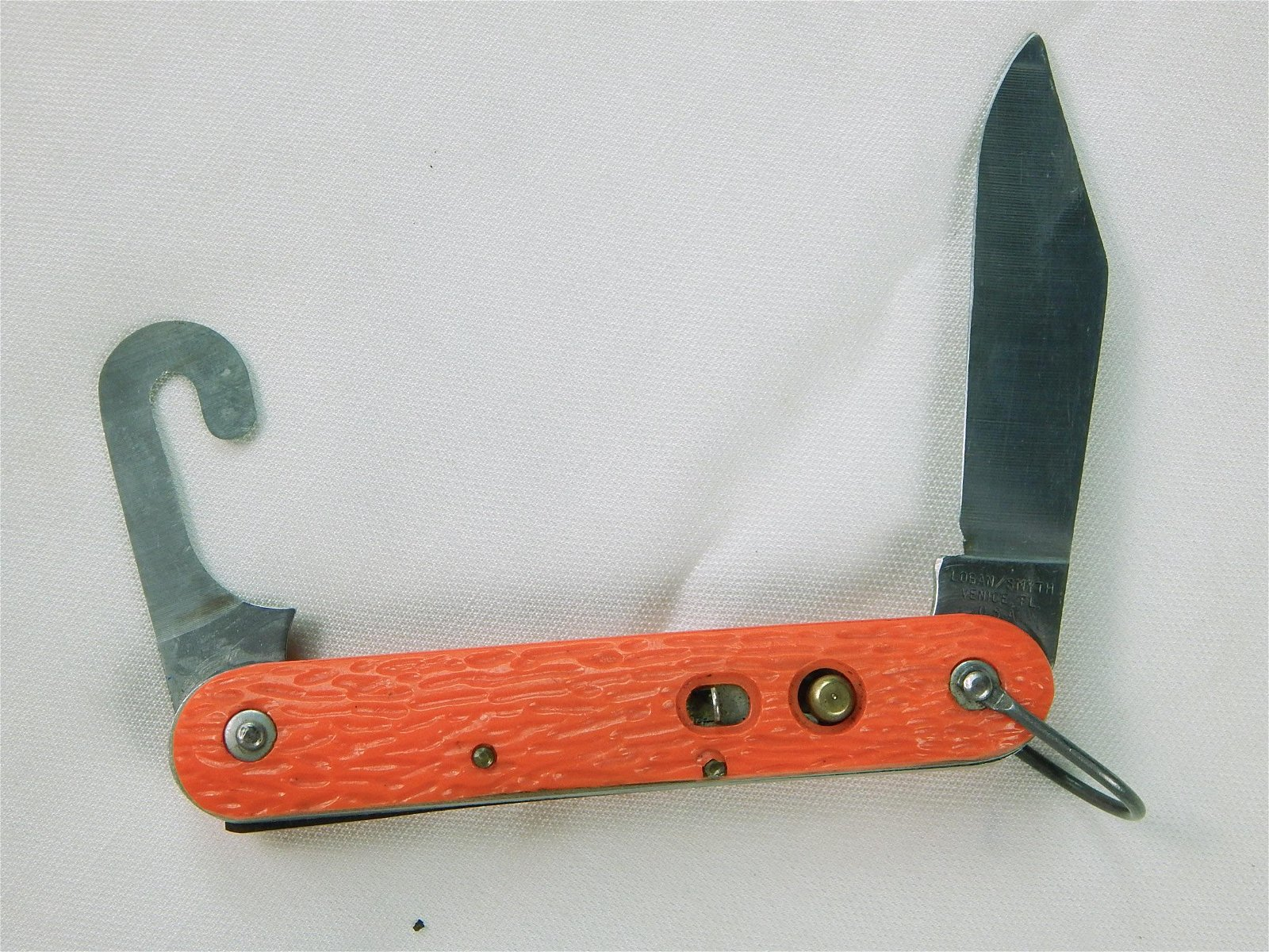 US Vintage Logan Smyth Survival Folding Pocket Knife
