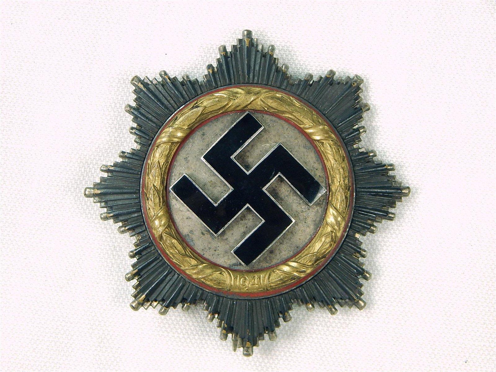 German Germany Nazi WW2 Gold Grade Cross Order Medal