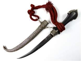 Antique Moroccan Silver Koumaya Jambia Dagger Knife