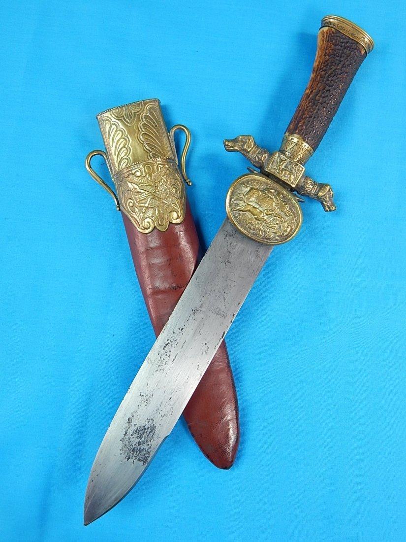 Antique Spain Spanish 18 Century Hunting Knife Dagger