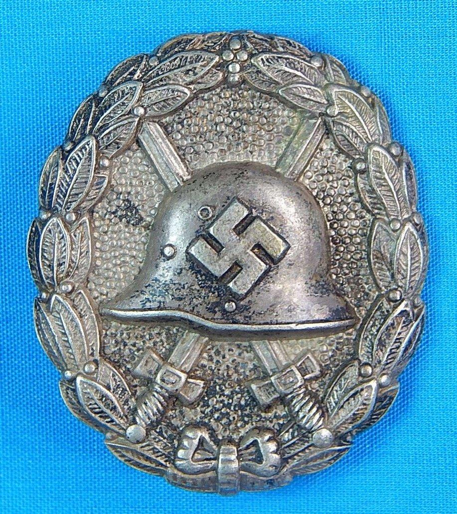 German WW2 Condor Legion Silver Grade Wound Badge Pin