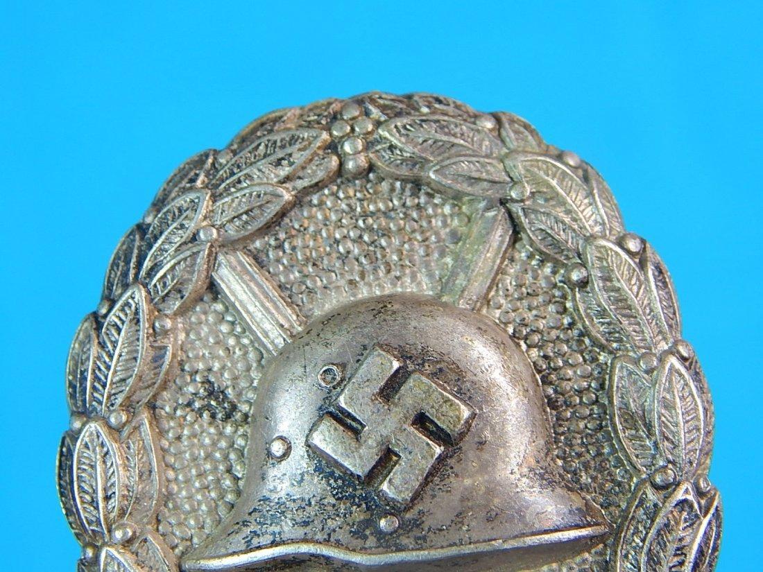 German WW2 Condor Legion Silver Grade Wound Badge Pin - 2