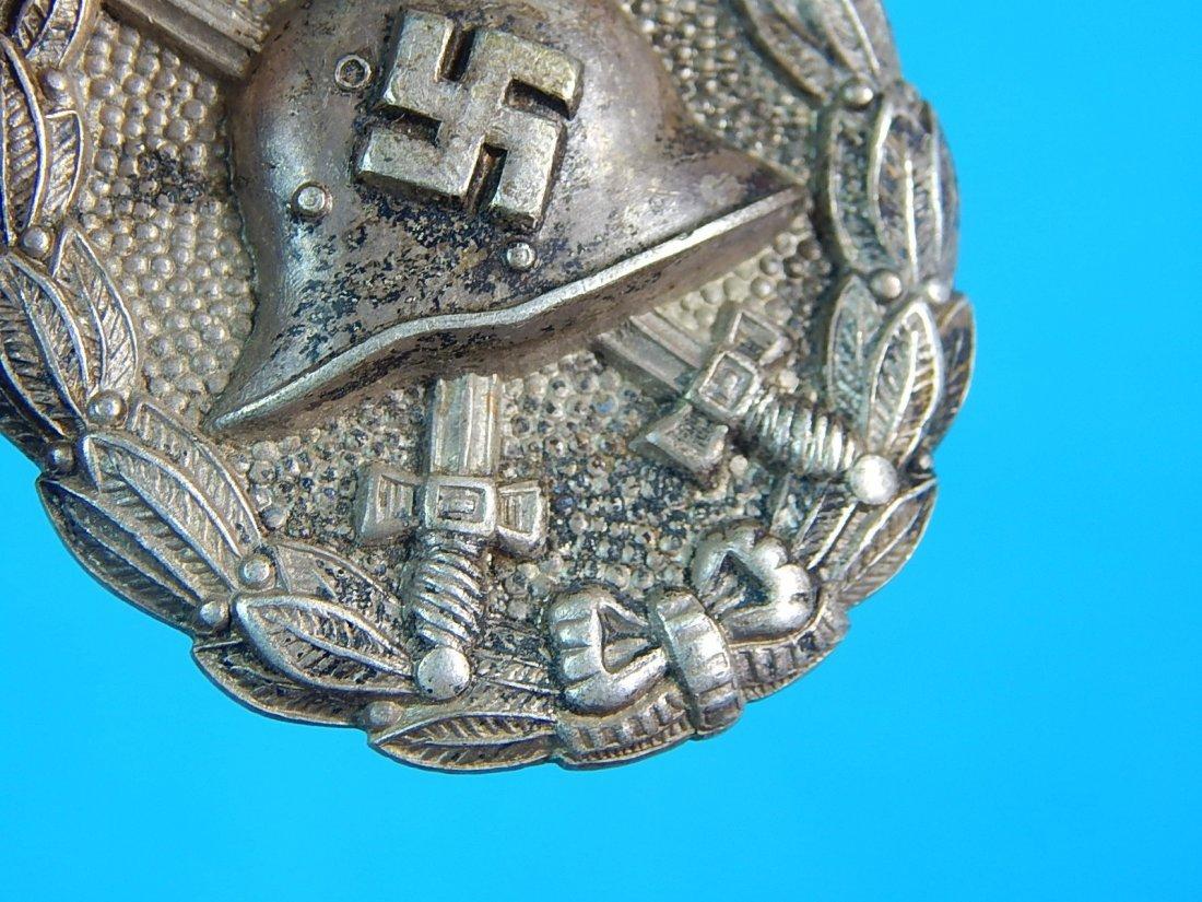 German WW2 Condor Legion Silver Grade Wound Badge Pin - 3