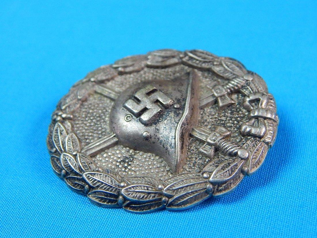 German WW2 Condor Legion Silver Grade Wound Badge Pin - 5