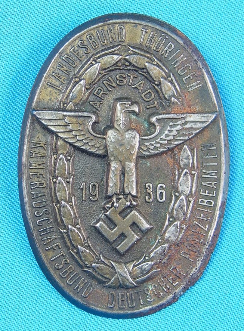 German Germany WWII WW2 1936 Nazi Eagle Badge Pin Medal
