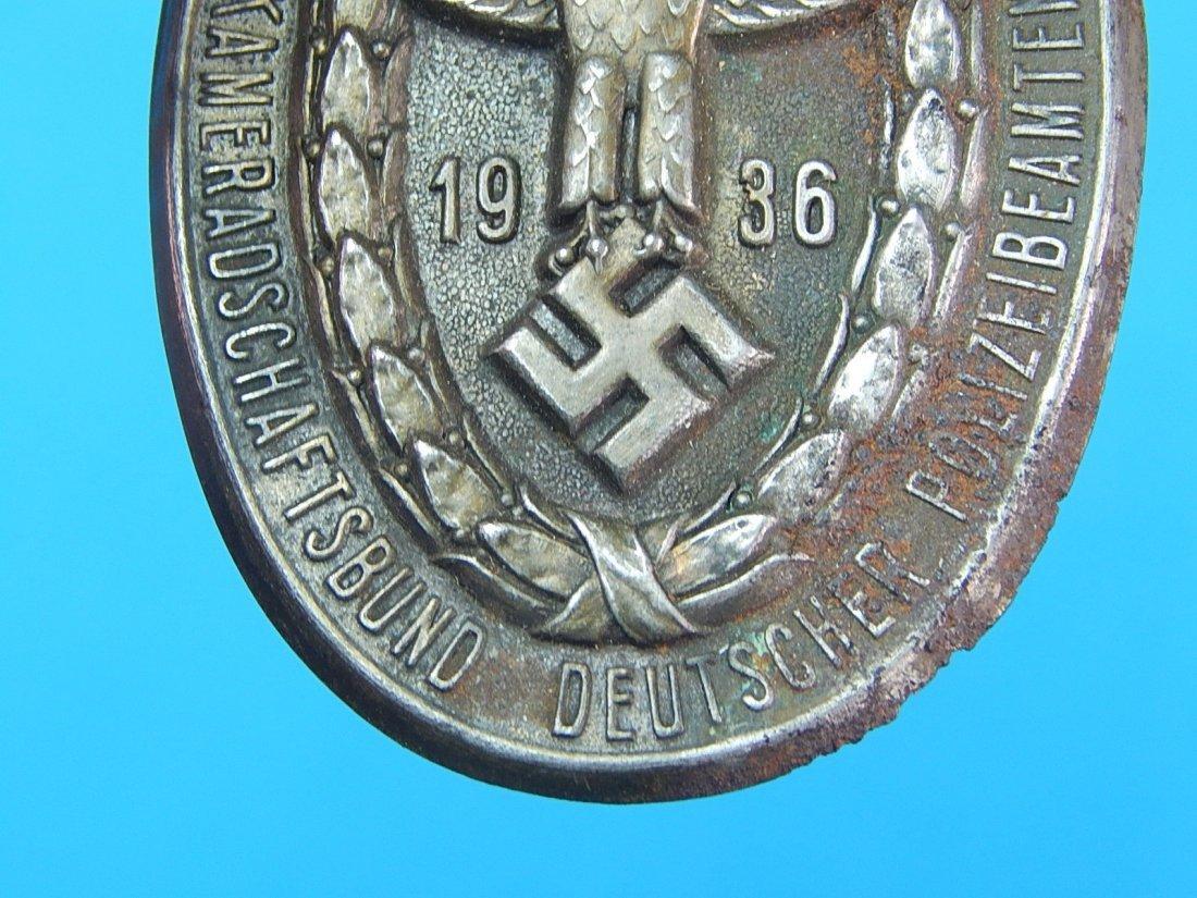 German Germany WWII WW2 1936 Nazi Eagle Badge Pin Medal - 3
