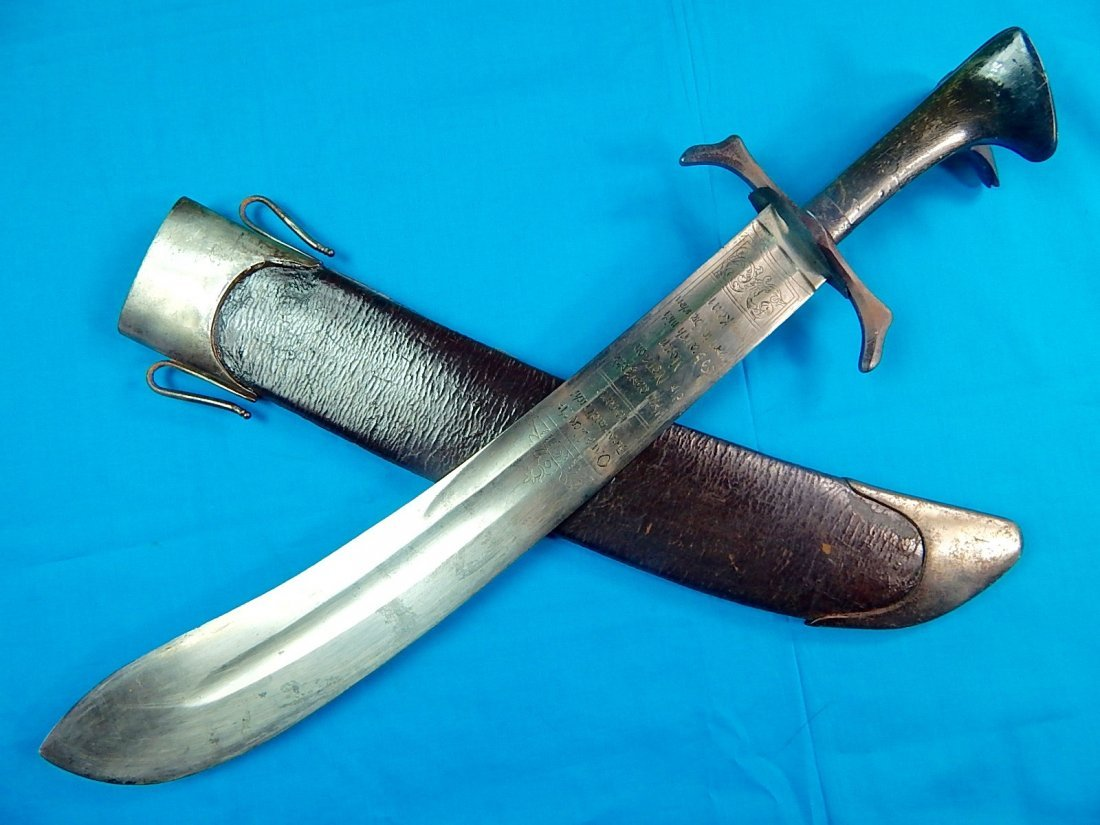 Antique Hungarian Hungary 18 Century Engraved Sword