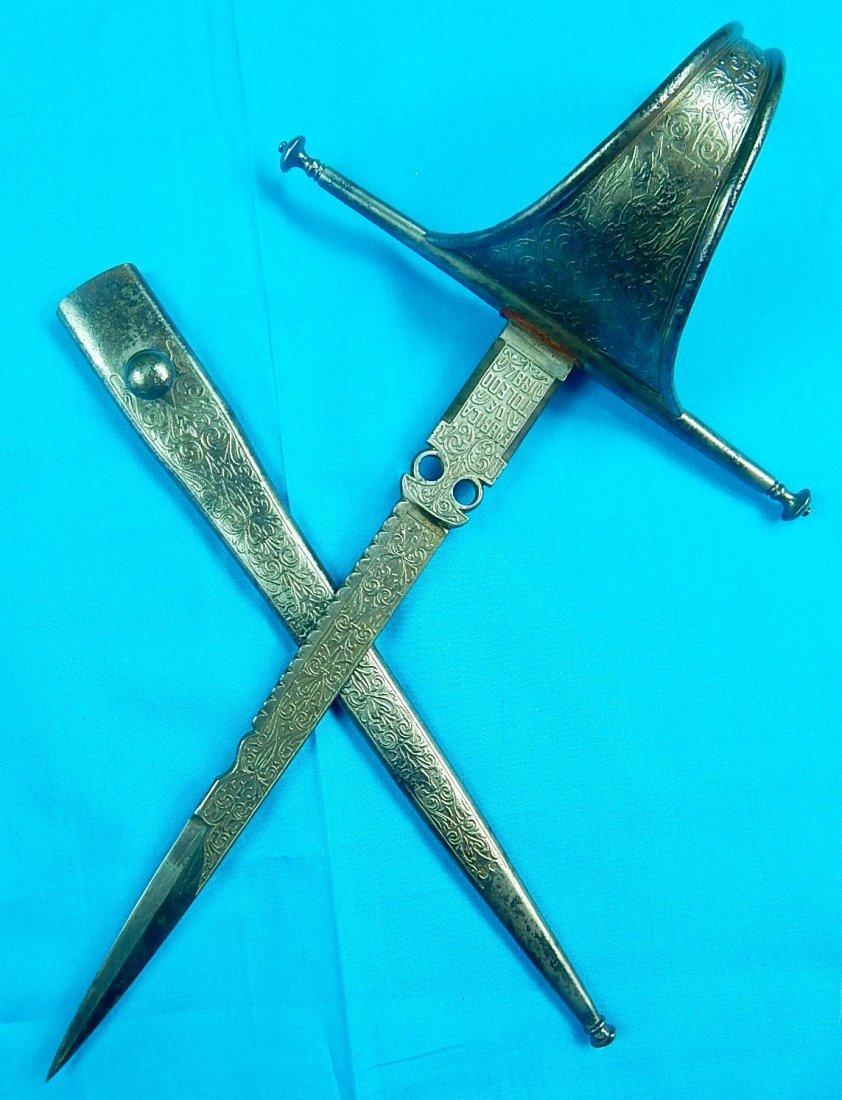 Antique 19 C 1884 Spain Spanish Left Hand Dagger Knife