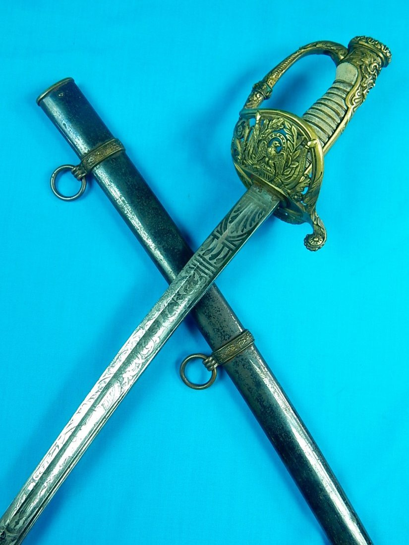 US Civil War French Presentation Cavalry Officers Sword