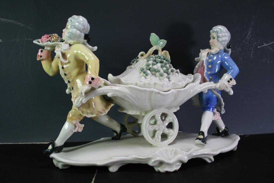 German Porcelain Statue of Two Figures