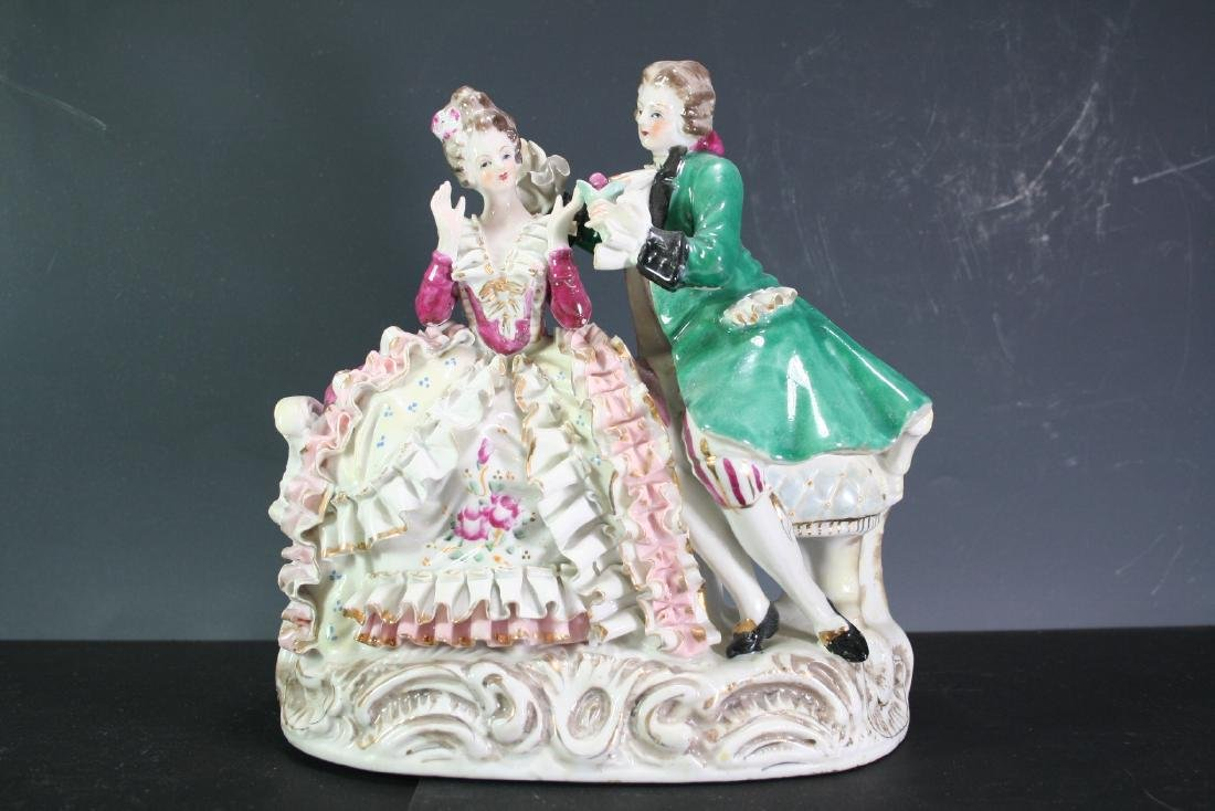 Porcelain Statue of Two Figures
