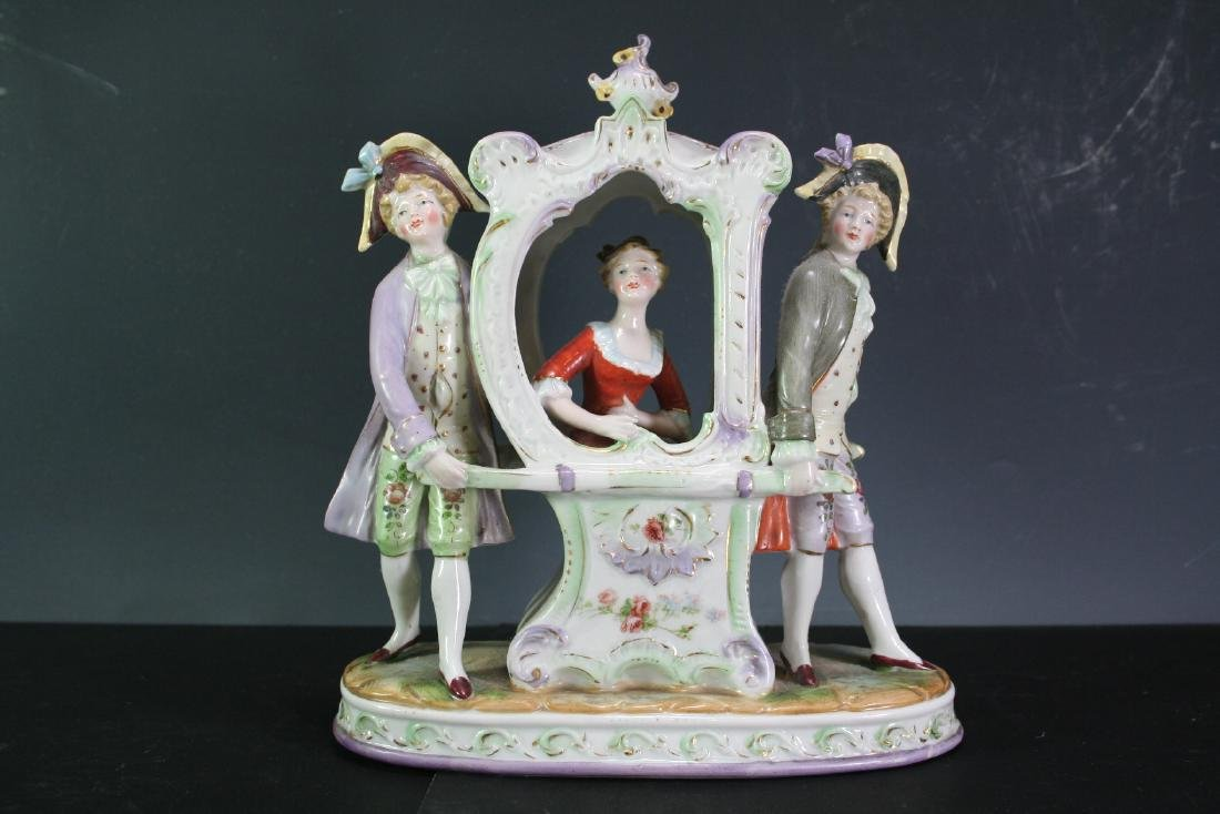 Porcelain Statue of Three Figures