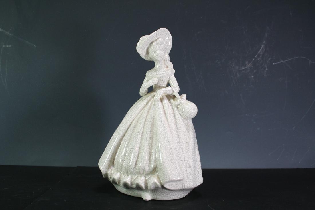 Porcelain Crackle Figure of a Lady