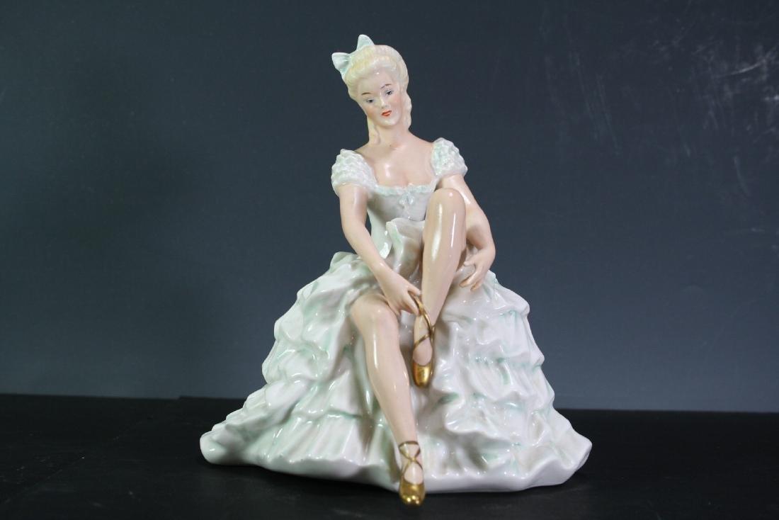 German Porcelain Figurine of a Dancer